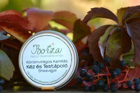 Borza natúr kozmetikum  szappan manufaktúra körömvirág kamilla kéz és testápoló